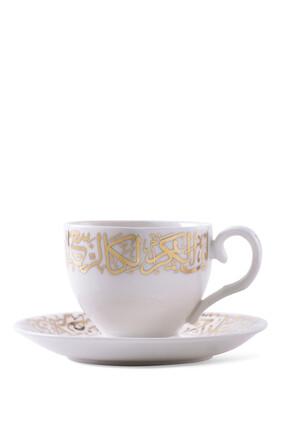 Porcelain Tea Cup and Saucer, Set of 12