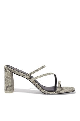 Darcy Python Leather Mules