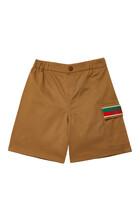 Logo Gabardine Shorts