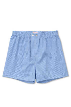 Gingham 1 Blue Boxer Shorts