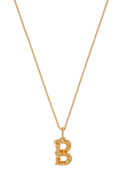 Alphabet Brass Necklace