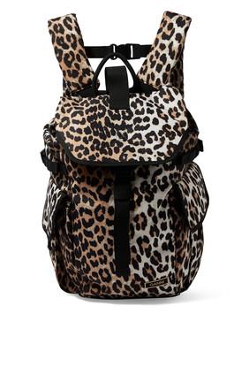 Leopard Print Backpack