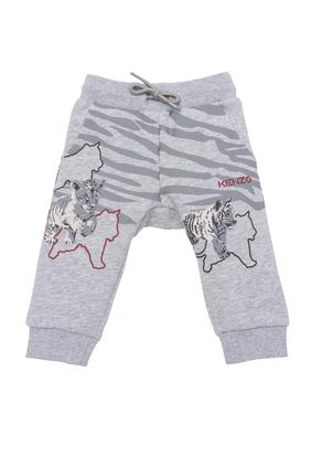 Tiger Print Sweatpants