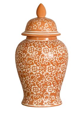Floral Lid Jar