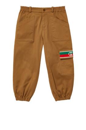 Gabardine Logo Pants