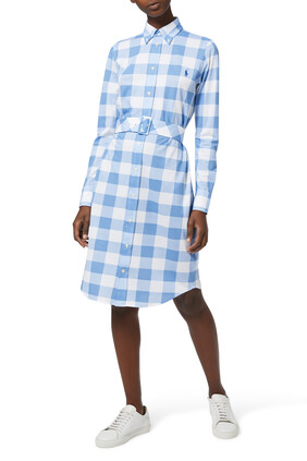 Gingham Cotton Shirt Dress