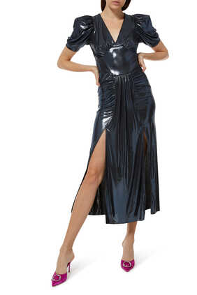 Alma Metallic Dress