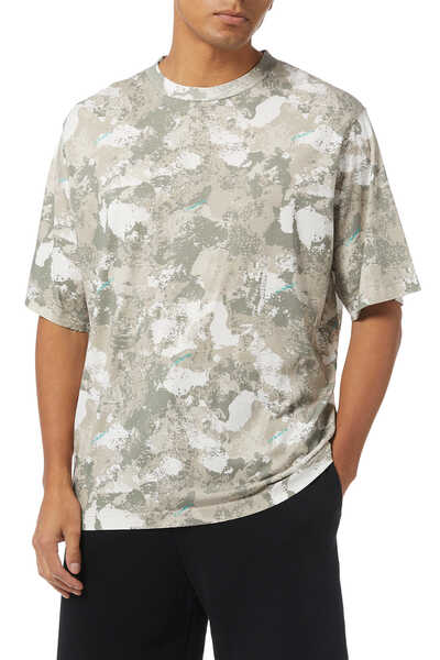 Camouflage County Print Cotton T-Shirt