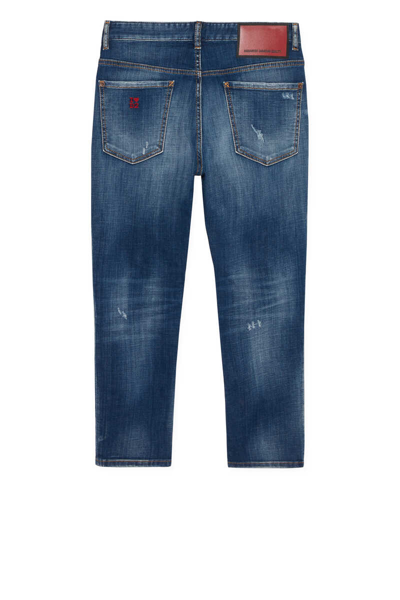 Logo Embroidered Jeans image number 3