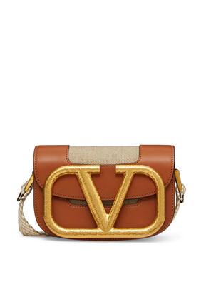 V Logo Crossbody Bag
