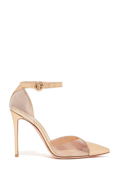 Mirror Ankle Tie D'orsay Pumps
