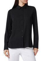 Slim-Fit Silk Blouse