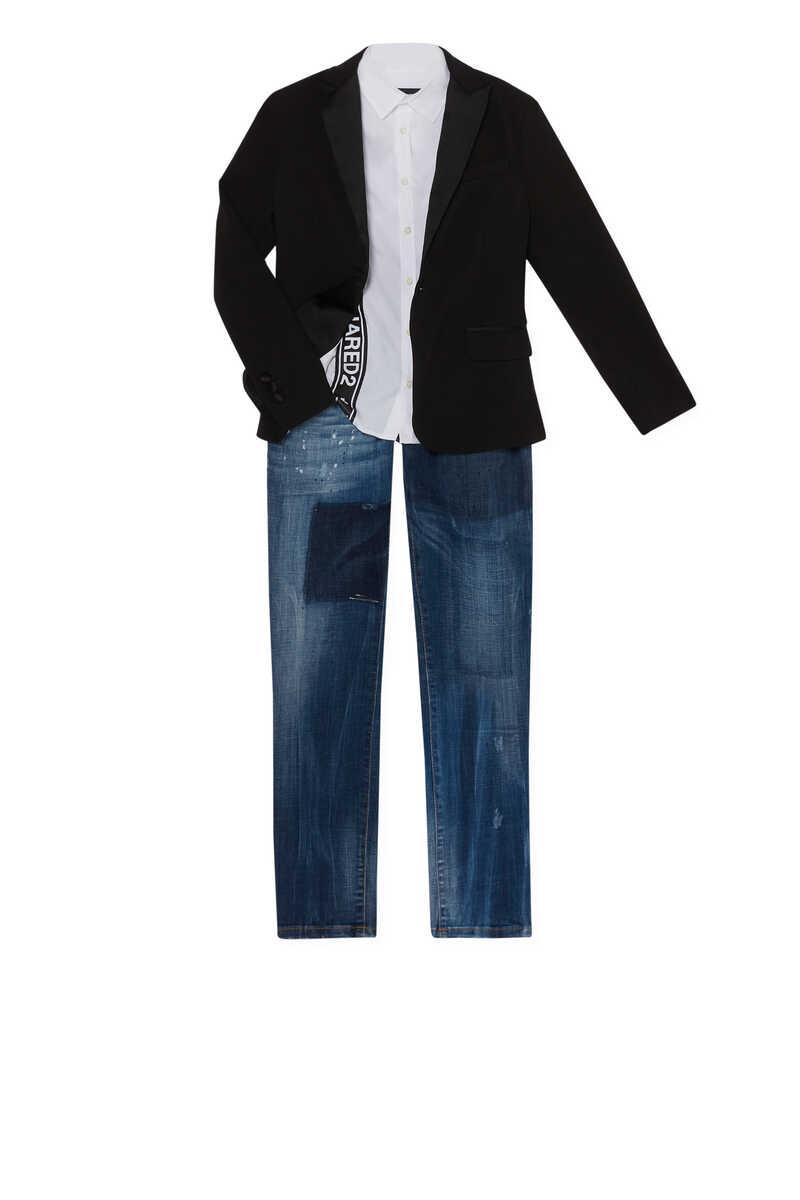 Lapel Collar Blazer Jacket image number 2