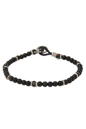 Rainbow Obsidian Beaded Bracelet