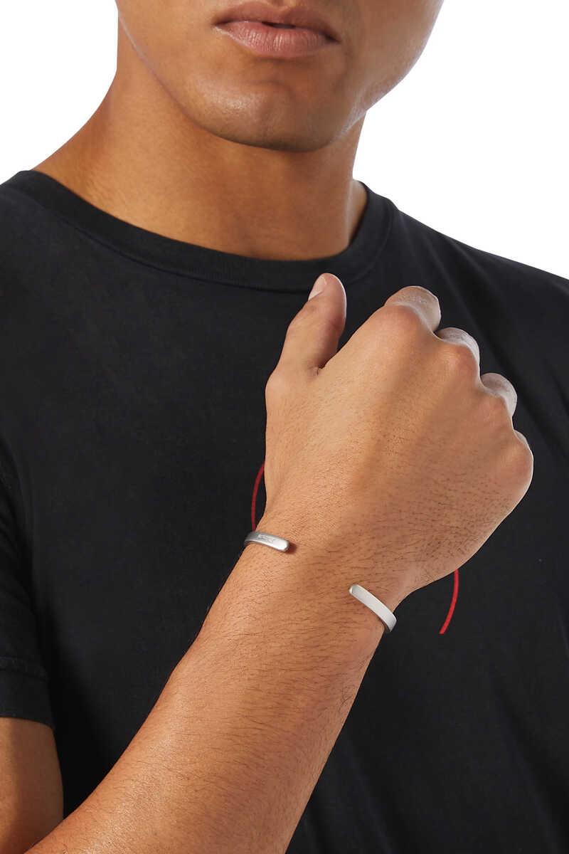 Single Cuff Silver Bracelet image number 2