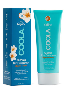Tropical Coconut – Classic Body Organic Sunscreen Lotion SPF30