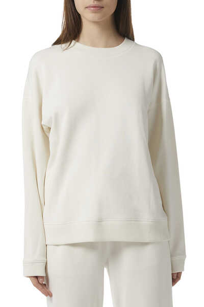 Ribbed Roundneck Sweatshirt