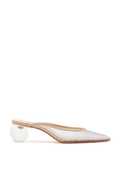 Alia 50 Mule Sandals in Clear Plexi