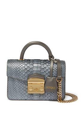 Python Leather Baby Nico Bag