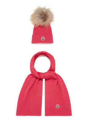 Logo Patch Hat And Scarf Gift Set