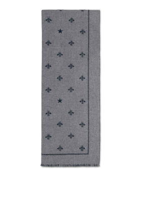 Bees And Stars Wool Scarf