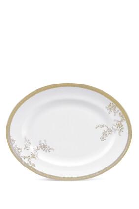 Vera Wang Lace Gold Oval Dish