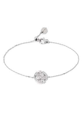 Avenues Diamond Chain Bracelet in 18kt White Gold