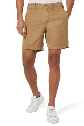 Straight-Fit Linen-Blend Shorts