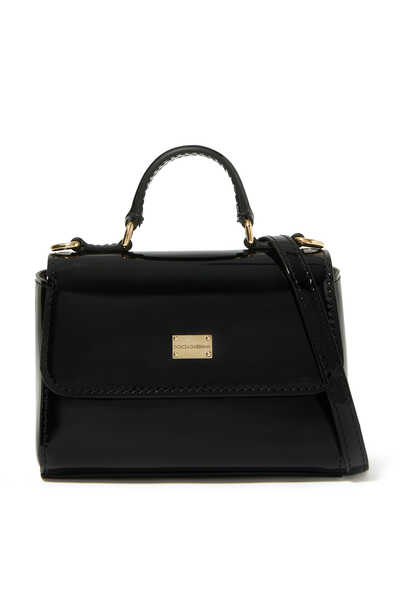 Patent Leather Top Handle Bag