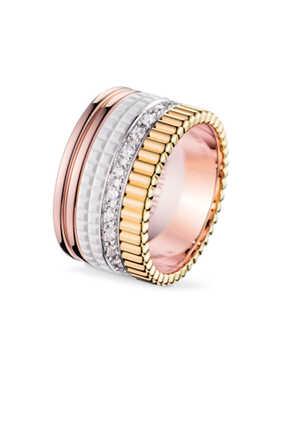 Quatre White Edition Diamond Large Ring