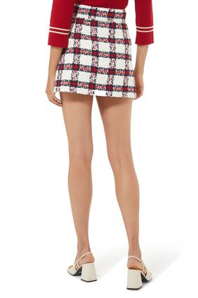 Check Tweed Skirt