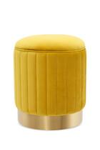 EZ Stool Allegra Yellow Velvet D40x45