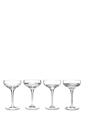 Waterford Mixology Cocktail Coupe Glasses, Set of Four