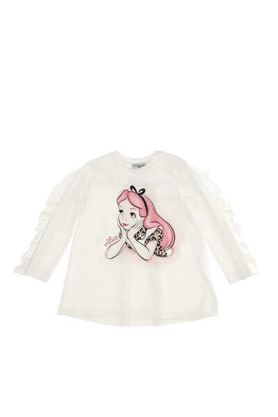 Alice Ruffle-back Long Sleeve T-Shirt