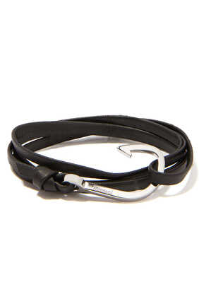 Hooked Leather Bracelet