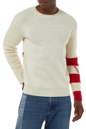 VLTN Logo Wool Crewneck Sweater