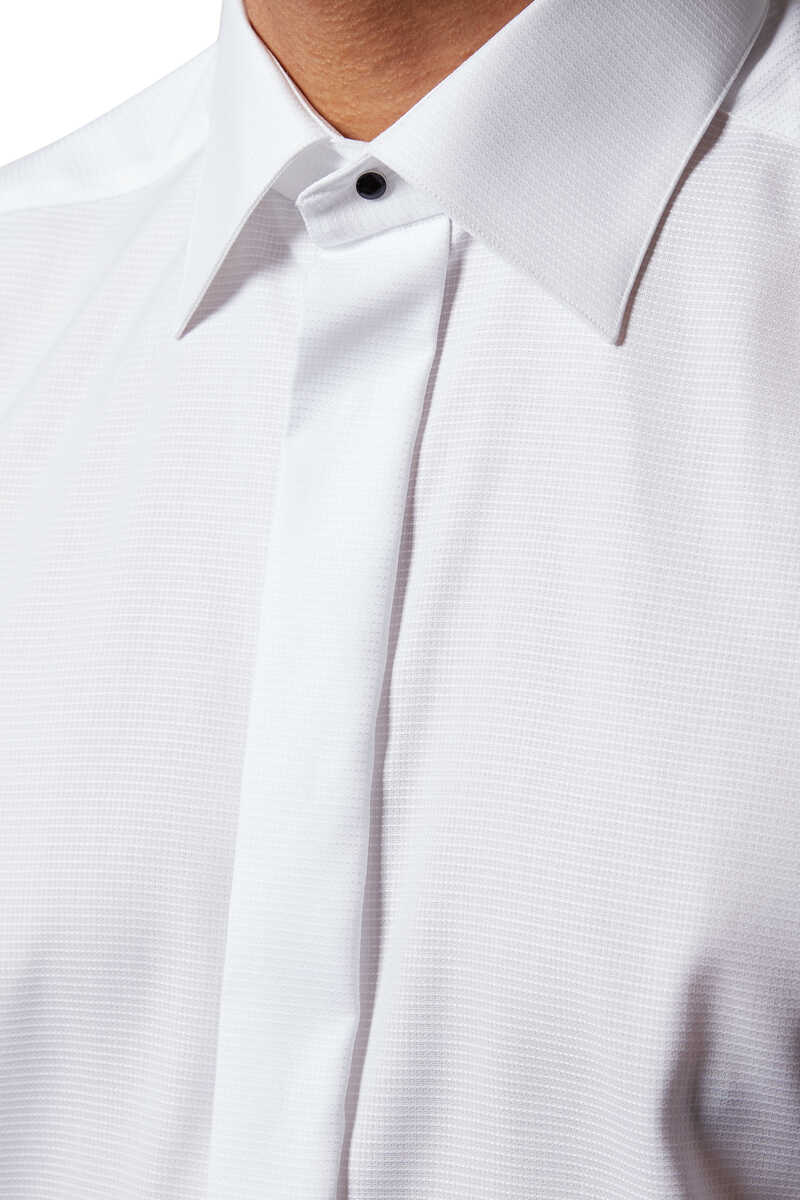 Slim Fit Dobby Evening Shirt image number 4