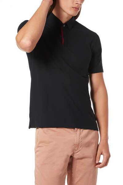 Contrasting Ice Cotton Polo Shirt