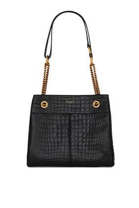 Claude Croc-Embossed Bag