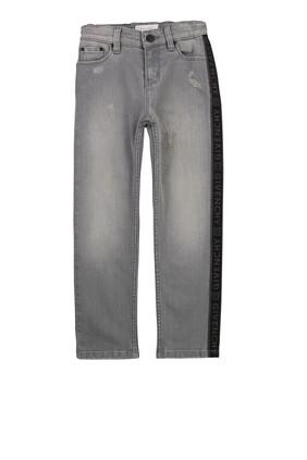 Logo Stripe Jeans