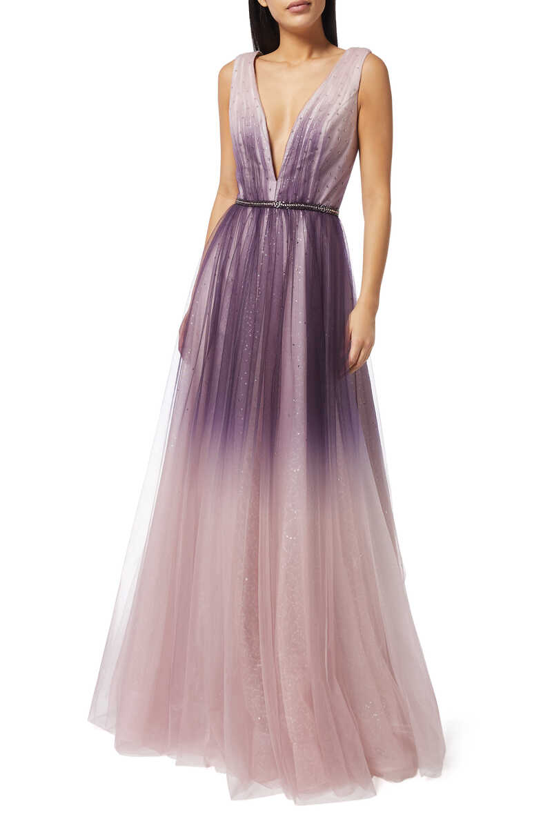 Ombre Sleeveless Gown image number 1