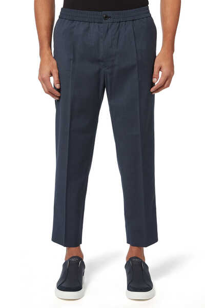Elasticated Waist Cropped Pants