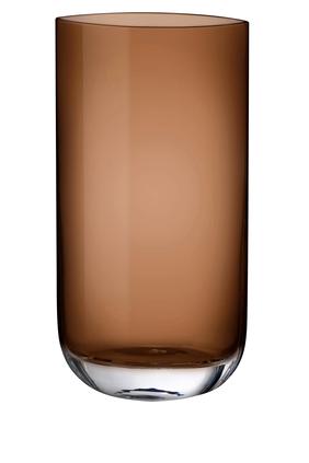 DJ Vase Nude Blade Caramel H400mm:Light/Pastel Brown:One Size