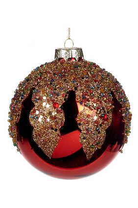 Bead Top Glass Ornament