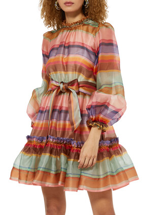 The Lovestruck Rainbow Mini Dress