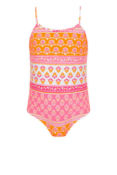 Block Print Swimsuit