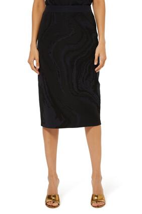 Galaxy Stretch Knit Skirt