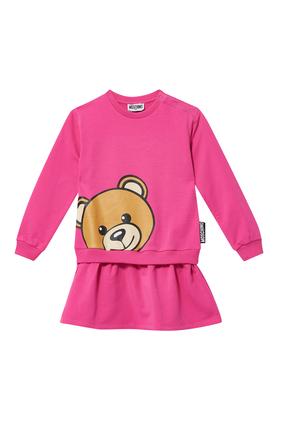 Teddy  Bear Logo Print Dress