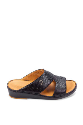 Python Leather Sandals