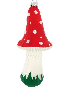 Glitter Glass Mushroom Ornament